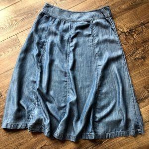 Gorgeous Coldwater Creek Denim full skirt size 10P